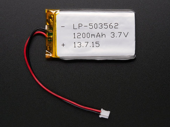 Lithium Ion Polymer Battery - 3.7v 1200mAh Image