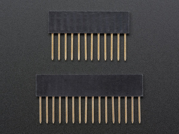 Feather Stacking Headers - 12-pin and 16-pin female headers Image