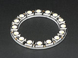 NeoPixel Ring - 16 x 5050 RGBW LEDs w/ Integrated Drivers - Natural White - ~4500K Image