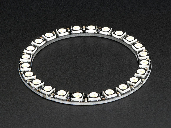 NeoPixel Ring - 24 x 5050 RGBW LEDs w/ Integrated Drivers - Natural White - ~4500K Image