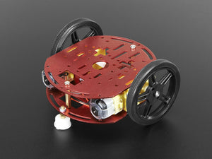 Mini Round Robot Chassis Kit - 2WD with DC Motors Image
