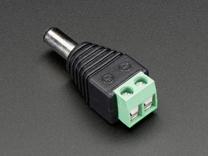 Male DC Power adapter - 2.1mm plug to screw terminal block Image