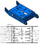 Purple Aluminum Chassis for TT Motors - 2WD Image