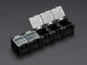 Antistatic Modular Snap Boxes - SMD component storage - 5 pack - Antistatic Image