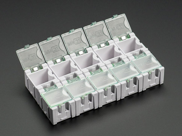 Tiny Modular Snap Boxes - SMD component storage - 10 pack - White Image