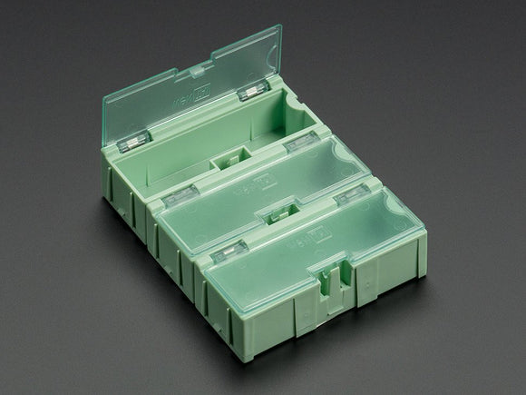 Small Modular Snap Boxes - SMD component storage - 3 pack - Green Image