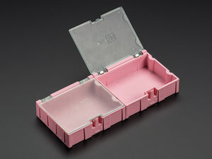 Medium Modular Snap Box - SMD component storage - 2 Pack - Pink Image