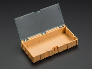 Large Modular Snap Box - SMD component storage - Orange Image