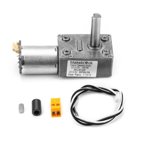 Makeblock Worm Geared Motor DC12.0V/6RPM Image
