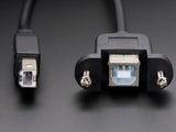 Panel Mount USB Cable - B Male to B Female Image