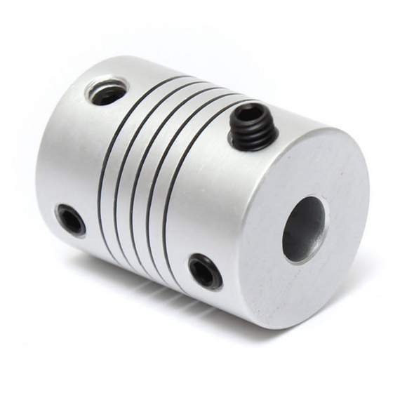 Aluminum Flex Shaft Coupler - 4mm to 6mm