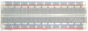 830 Point Solderless Breadboard (White) Image