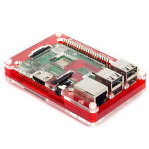 Coupé Red Pibow 3 B+ (Case for Raspberry Pi 3 B+, 3, & 2) Image