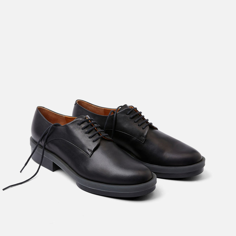 clergerie - ROMA DERBIES, BLACK CALF