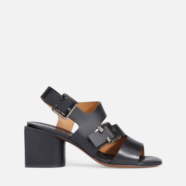 clergerie - ELLIE SANDALS, BLACK