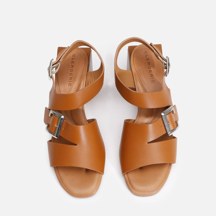 clergerie - ELLIE SANDALS, CAMEL