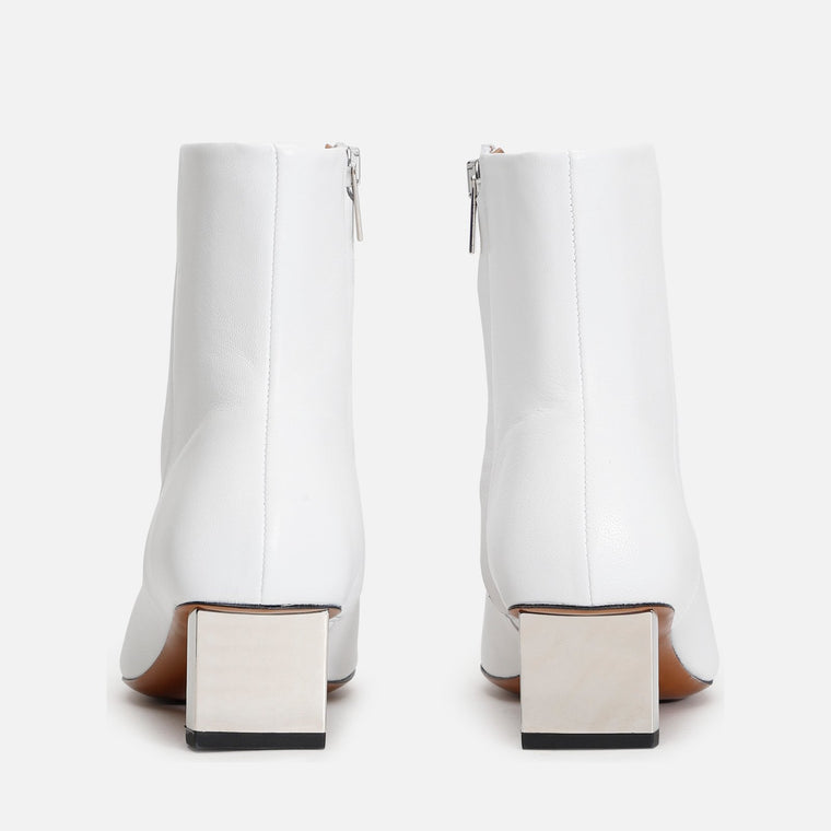 clergerie - PAIGE ANKLE BOOTS, WHITE