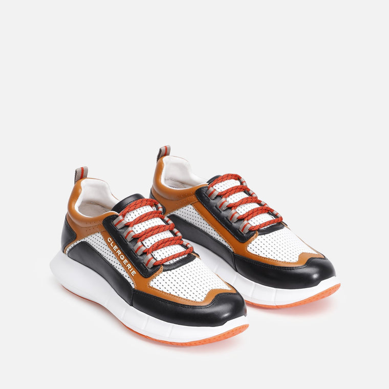 clergerie - SEA SNEAKERS, BLACK & CAMEL
