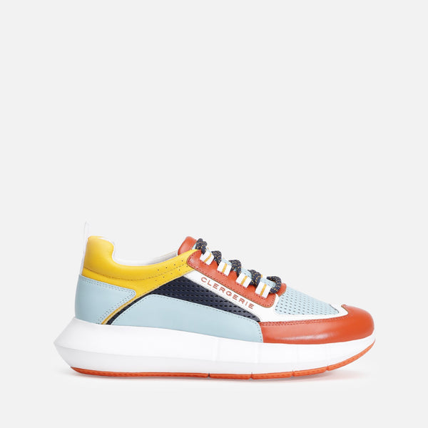 clergerie - SEA SNEAKERS, ORANGE & BLUE