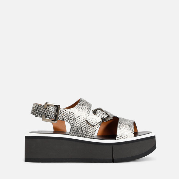 clergerie - LAST CHANCE || ULYSSE SANDALS, ANIMAL PRINT