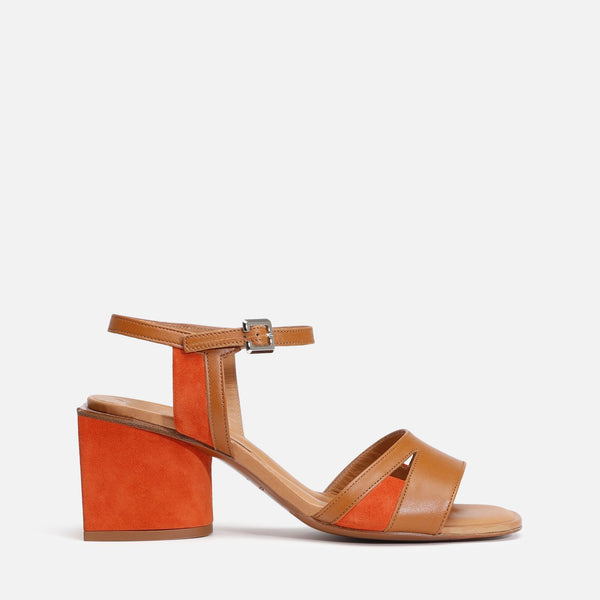 clergerie - ENORA SANDALS, CAMEL & ORANGE