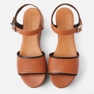 clergerie - MONI SANDALS, CAMEL & BLACK