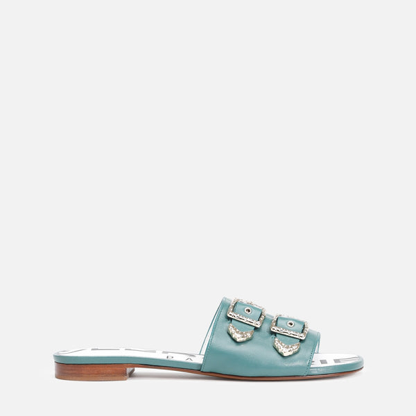 clergerie - KID MULES, GREEN
