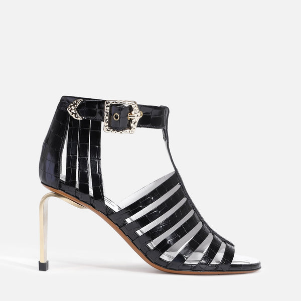 clergerie - KYLE SANDALS, BLACK ANIMAL PRINT