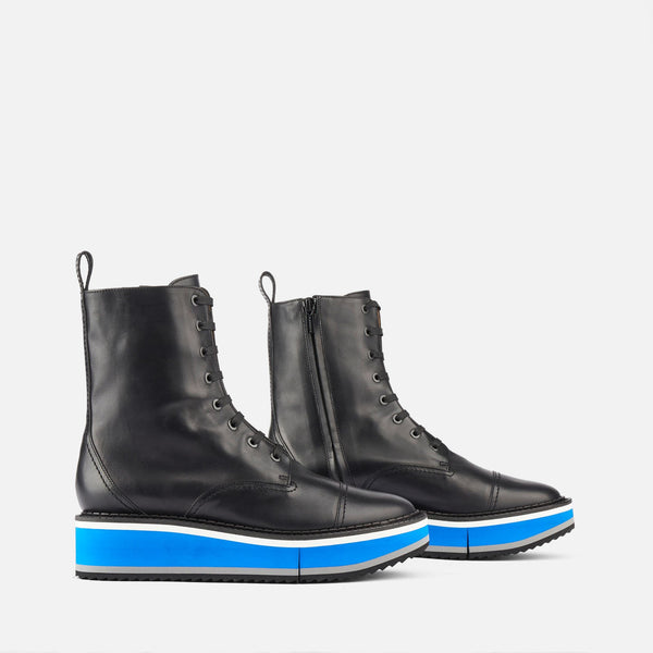 clergerie - ANKLE BOOTS BRITISH, BLACK & BLUE