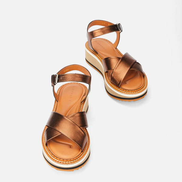 clergerie - SANDALS FARA, COPPER