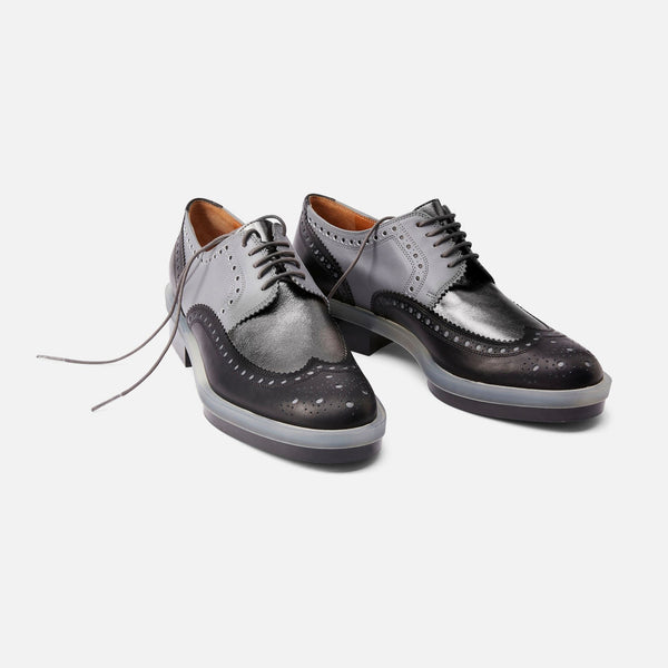 clergerie - DERBIES RICHIE, BLACK & GREY