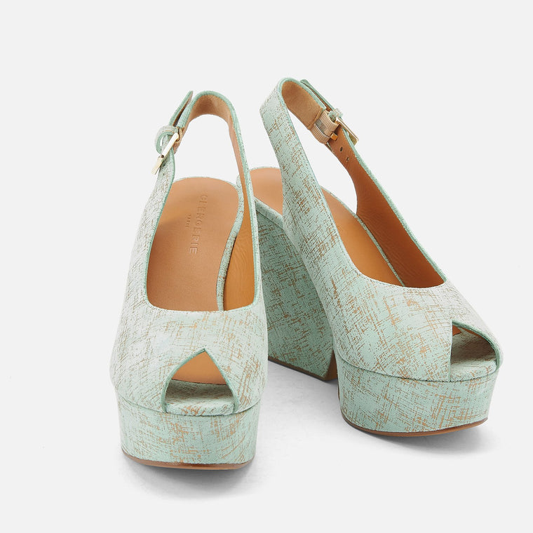 clergerie - WEB EXCLUSIVE || SANDALS DYLAN, GREEN GRAPH