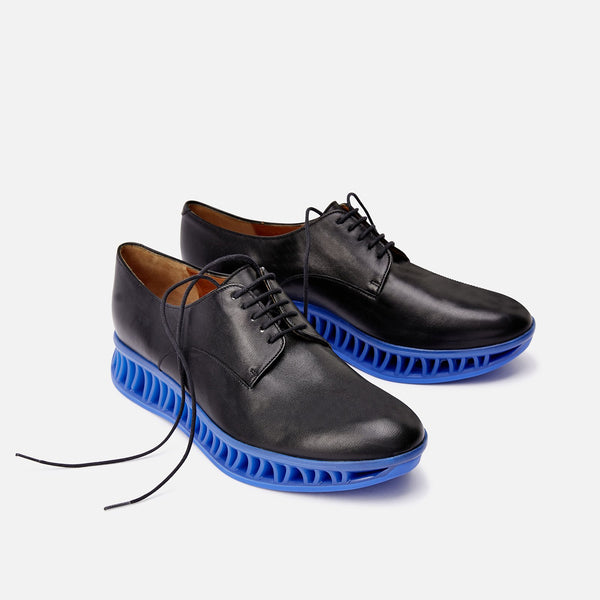 clergerie - DERBIES MAKA, BLACK & BLUE