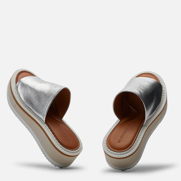 clergerie - MULES FASTIE, SILVER