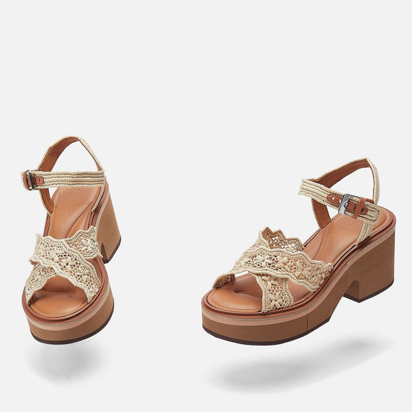 clergerie - SANDALS CHARLIZE, NATURAL