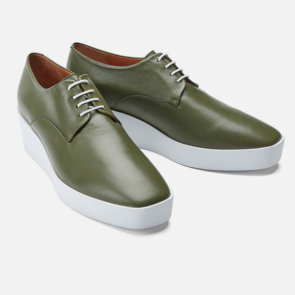 clergerie - DERBIES LINDSEY, GREEN