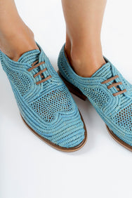 clergerie - DERBIES JAPAILLE, LIGHT BLUE