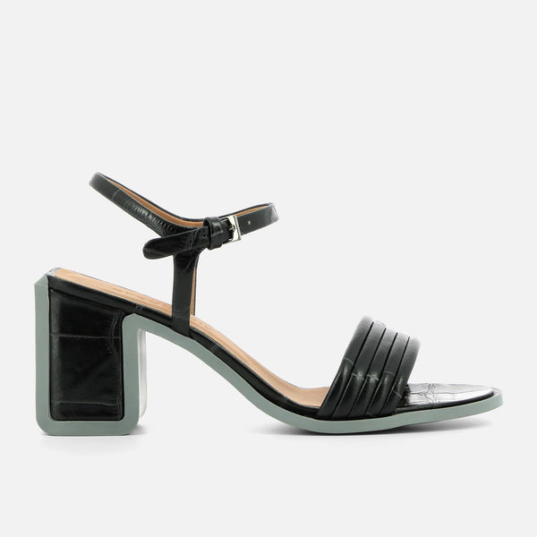 clergerie - SANDALS KELLY, BLACK CROC