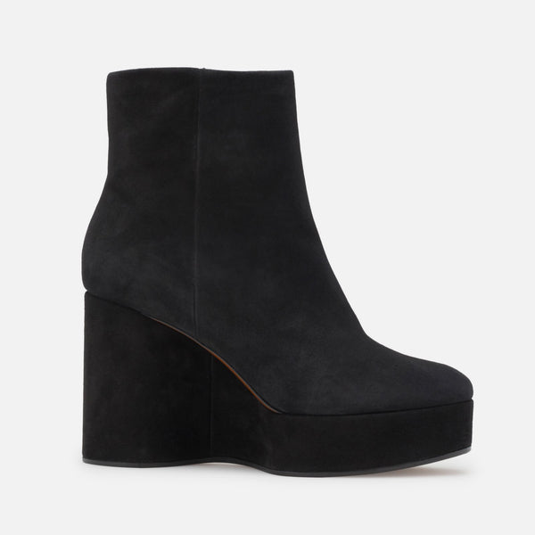 ANKLE BOOTS BELEN, BLACK SUEDE
