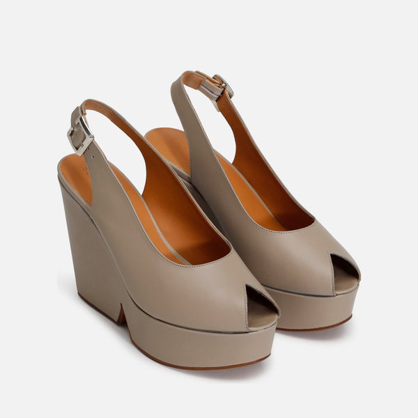 DYLAN WEDGE SANDALS, TAUPE