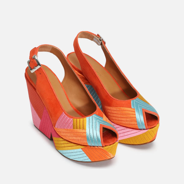 DORI WEDGE SANDALS, MULTICOLOR