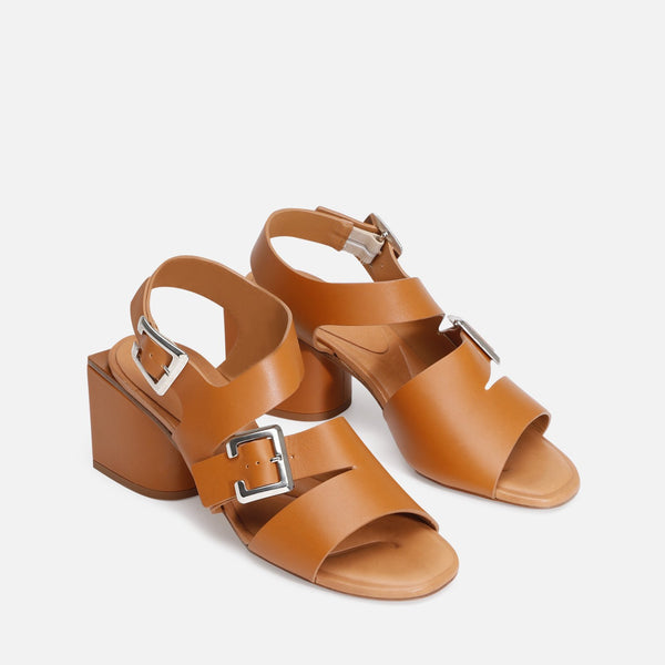 ELLIE SANDALS, CAMEL