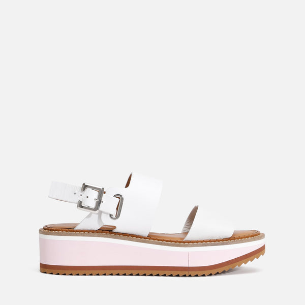 FLEUR SANDALS, WHITE - Clergerie Paris
