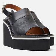 NOREEN WEDGE SANDALS, BLACK