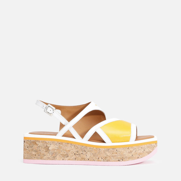 UMAL SANDALS, YELLOW & WHITE