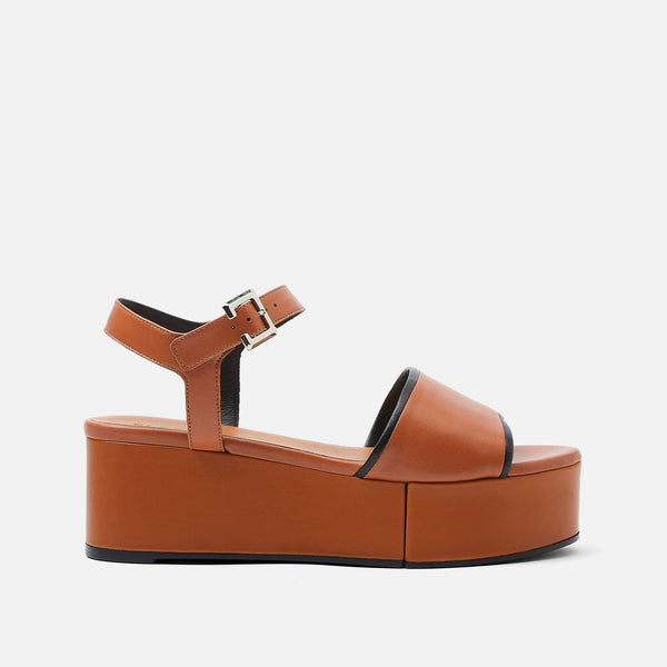 MONI SANDALS, CAMEL & BLACK