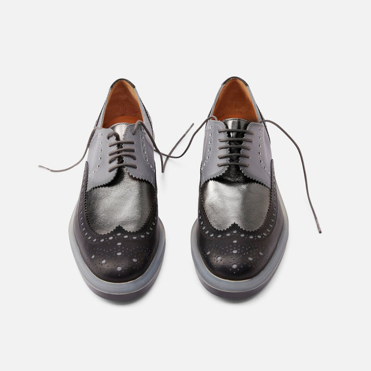 DERBIES RICHIE, BLACK & GREY