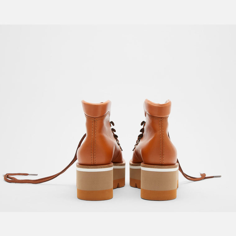 ANKLE BOOTS BUBBLE, CAMEL