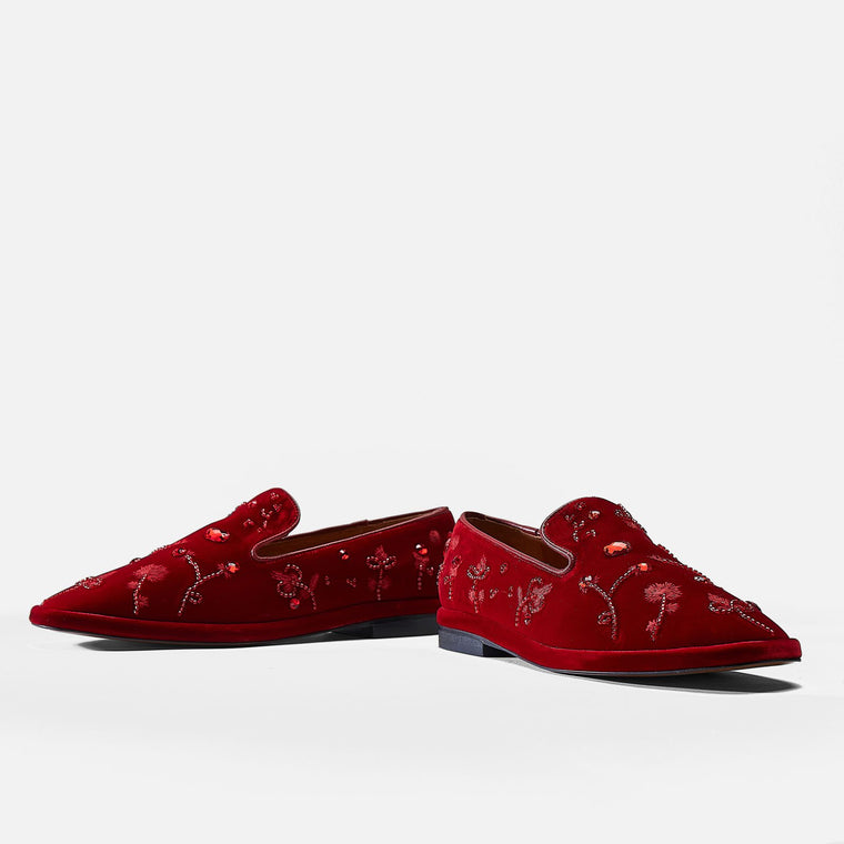LOAFERS OLIA, RED