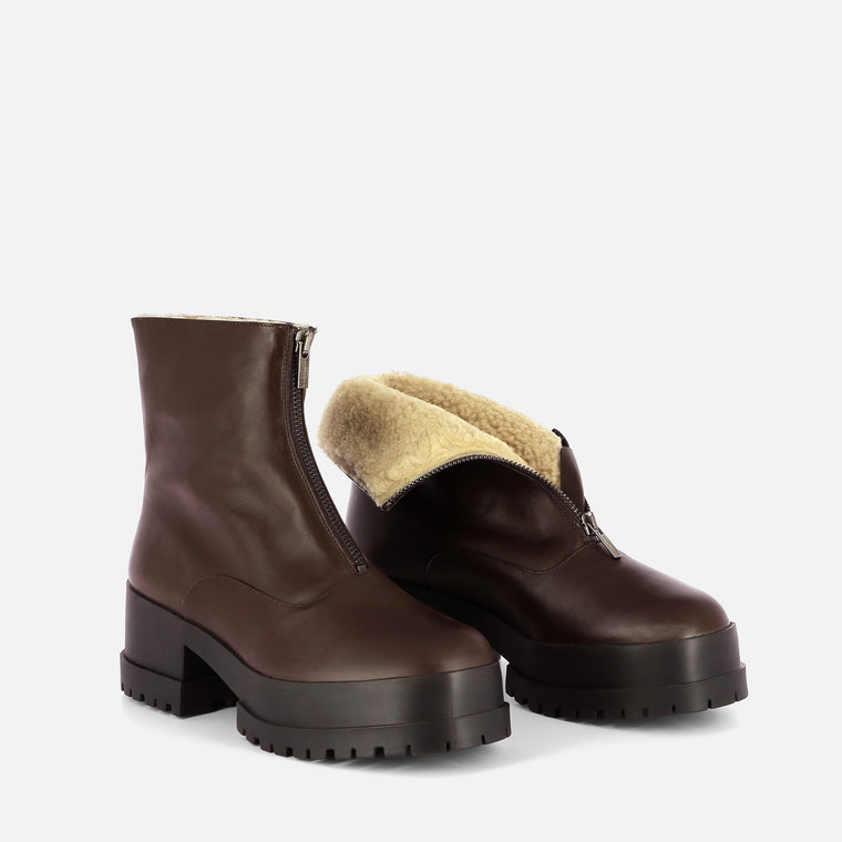 ANKLE BOOTS WYLLO, BROWN